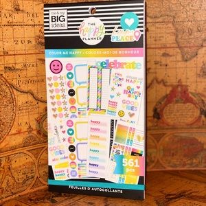 "Happy planner ""Color Me Happy"" Stickers book"